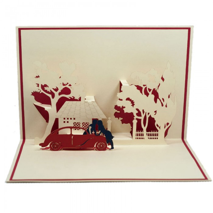 LV033-Couple-by-the-car-love-3D-pop-up-card-vietnam-2-700×700