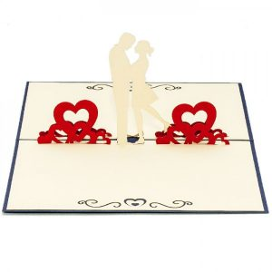 LV039-Couple-Kissing-Love-Pop-up-card-1-Love-pop-up-card-valentine-Pop-up-card-Custom-Design-Charm Pop (1)
