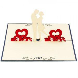 LV039-Couple-Kissing-Love-Pop-up-card-1-Love-pop-up-card-valentine-Pop-up-card-Custom-Design-Charm Pop (1)
