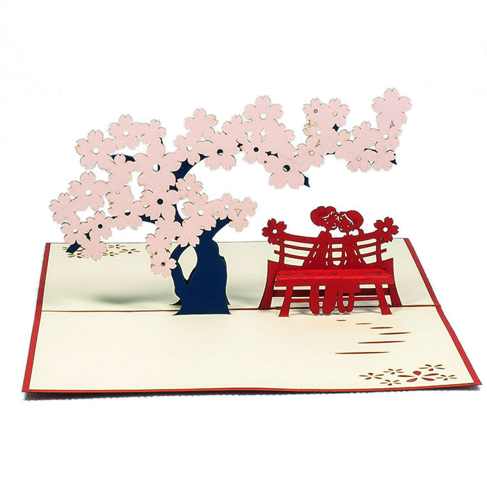 Spring Date Pop Up Card Love 3d Greeting Card Wholesale