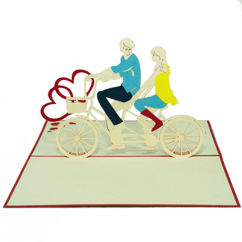 LV044-Twin-love-bike-Love-pop-up-card-valentine-Pop-up-card-Charm-Pop-edit (1)