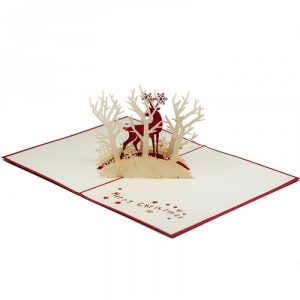 MC006-Christmas-deer-xmas-card-holiday-pop-up-card-3D-Pop-up-Card-Custom-Design-Charm Pop (2)