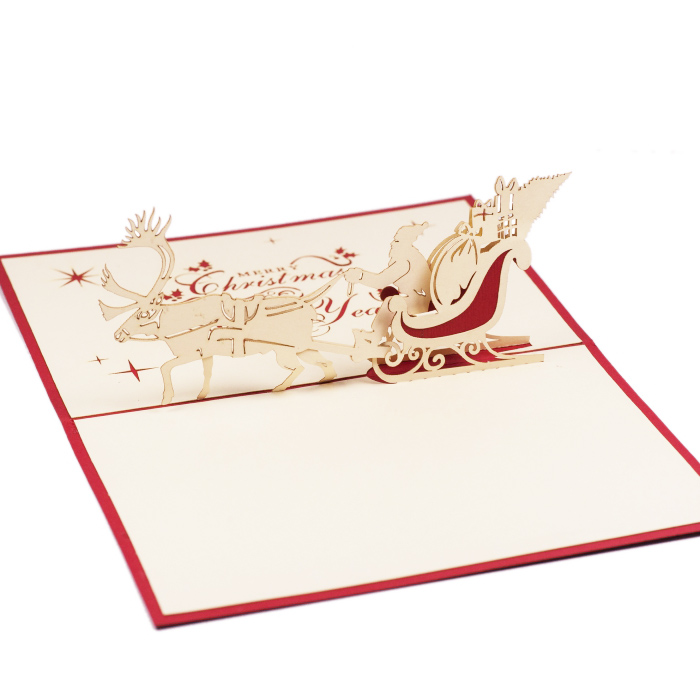 MC009-Santa-pop up card-Christmas-card-holiday-pop-up-card-3D-Pop-up-Card-Custom-Design-Charm Pop (2)