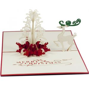 MC013-Reindeer Pop Up Card-Christmas-card-holiday-pop-up-card-3D-Pop-up-Card-Custom-Design-Charm Pop (2)