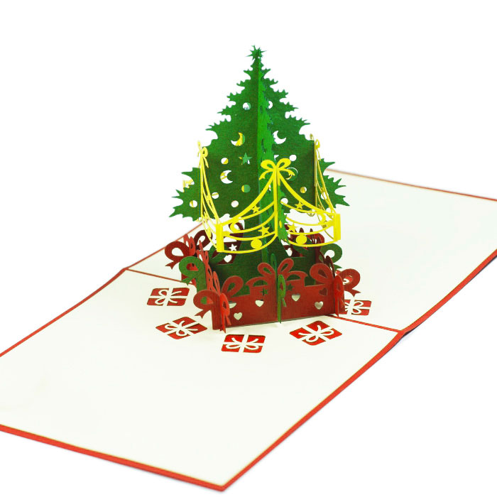 Xmas Tree pop up card- Christmas pop up cards supplier- 2018