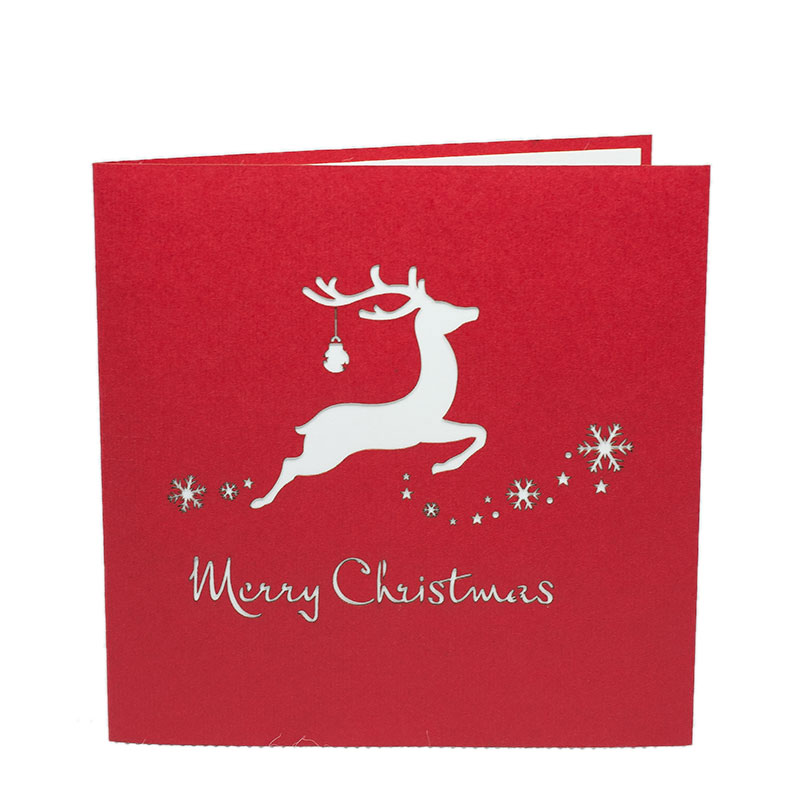 xmas reindeer pop up card christmas pop up cards manufacturer 2018