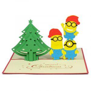 MC056-Christmas-Minions-kute-pop-up-card-gift-pop-up-card-brithday-pop-up-card-friendship-pop-up-cardchristmas-3D-card-3-Charm Pop (2)