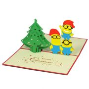MC056-Christmas-Minions-kute-pop-up-card-gift-pop-up-card-brithday-pop-up-card-friendship-pop-up-cardchristmas-3D-card-3-Charm Pop (3)