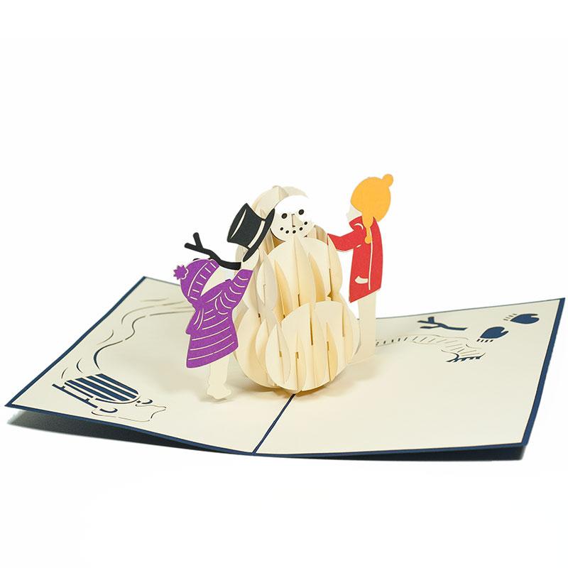 MC058-Snowman-2-PopupCard-Christmas-card-holiday-pop-up-card-3D-Pop-up-Card-Custom-Design-Charm Pop (1)
