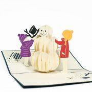MC058-Snowman-2-PopupCard-Christmas-card-holiday-pop-up-card-3D-Pop-up-Card-Custom-Design-Charm Pop (2)