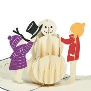 MC058-Snowman-2-PopupCard-Christmas-card-holiday-pop-up-card-3D-Pop-up-Card-Custom-Design-Charm Pop (3)