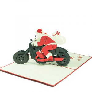 MC066-Santa-Motorbike-New-Christmas-pop-up-card-gift-3D-card-1