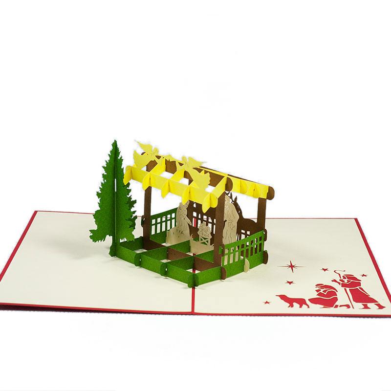 MC068-Nativity-scene-2-Pop-up-Card-Christmas-card-holiday-pop-up-card-3D-Pop-up-Card-Custom-Design-Charm Pop (2)