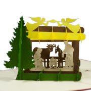 MC068-Nativity-scene-2-Pop-up-Card-Christmas-card-holiday-pop-up-card-3D-Pop-up-Card-Custom-Design-Charm Pop (3)