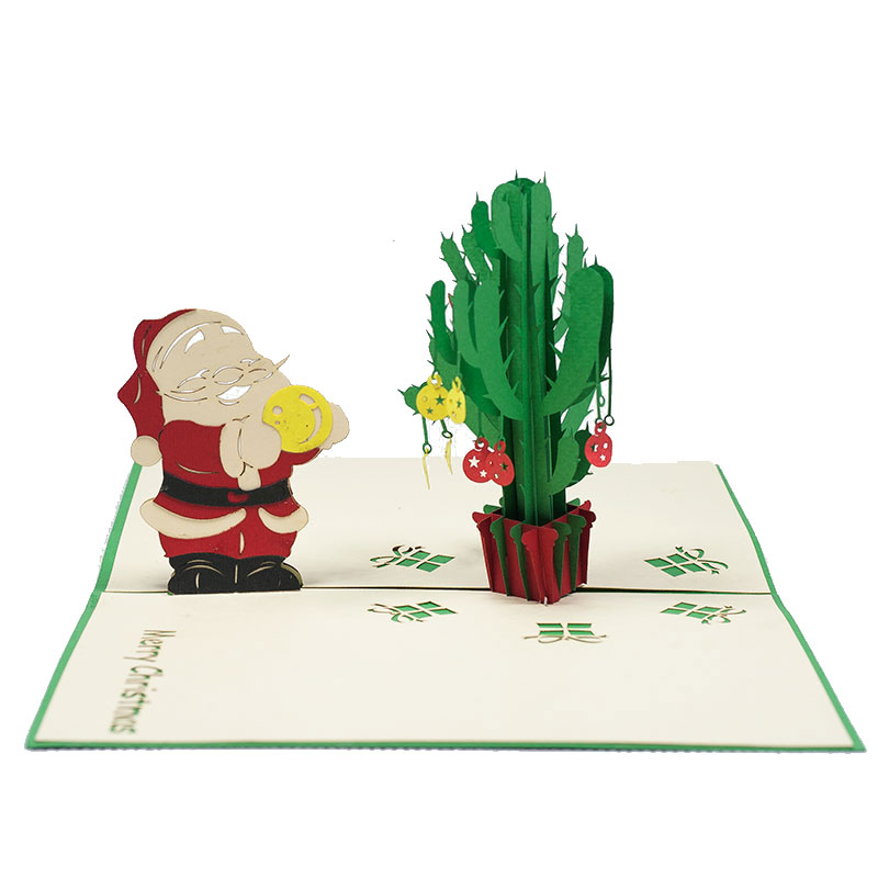 MC072-Santa-and-Cactus-Christmas-card-holiday-pop-up-card-3D-Pop-up-Card-Custom-Design-Charm Pop (1)