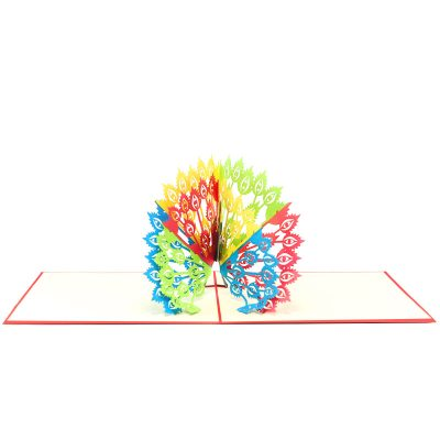 Peacock pop up card-pop up card wholesale-popup card for her- birthday card pop up- pop up card manufacturer (3)