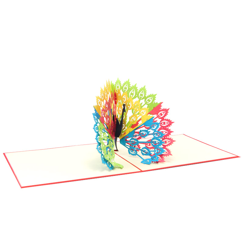 Peacock pop up card-pop up card wholesale-popup card for her- birthday card pop up- pop up card manufacturer (4)