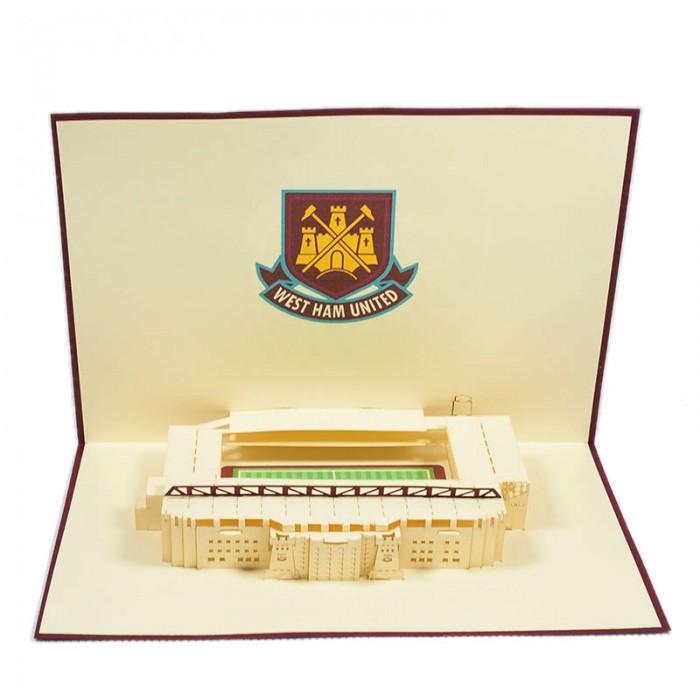ST010-Westham-United-Stadium-Pop-up-greeting-Card-Custom-Design-sport 3D card- Charm Pop (2)