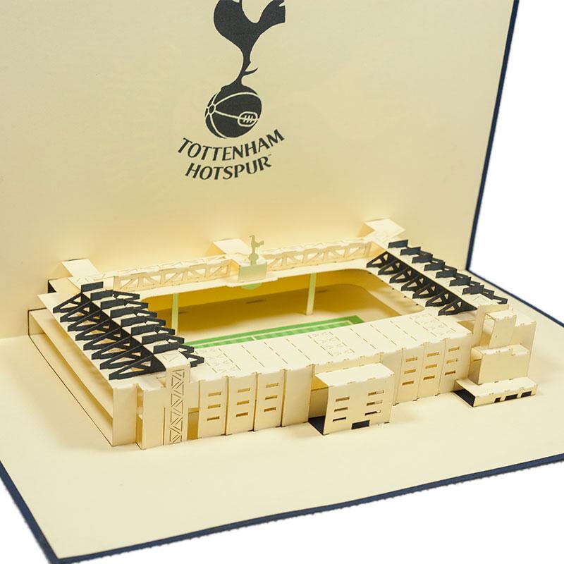 Tottenham Stadium pop up card custom pop card supplierCharmPopUK – Tottenham Birthday Card
