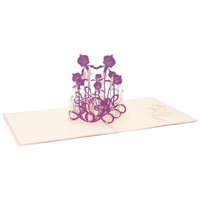 Summer flower pop up card-pop up card manufacturer- pop up card wholesaler- kirigami card vietnam-CharmPop (3)
