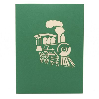 Train express pop up card-pop up card manufacturer- pop up card wholesaler- kirigami card vietnam-CharmPop (2)