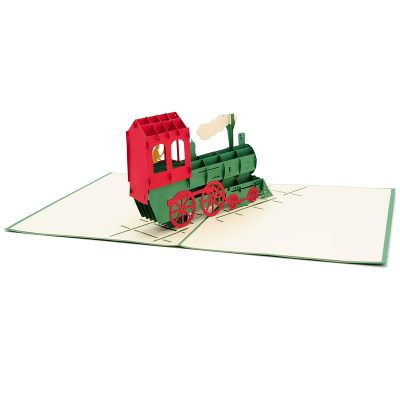 Train express pop up card-pop up card manufacturer- pop up card wholesaler- kirigami card vietnam-CharmPop (4)