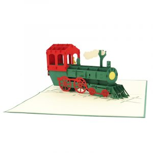 Train express pop up card-pop up card manufacturer- pop up card wholesaler- kirigami card vietnam-CharmPop (5)