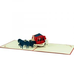 WD019-Romantic Carriage-3D-pop-up-greeting-card-wedding-card-congratulation-Charm Pop-Polland (2)