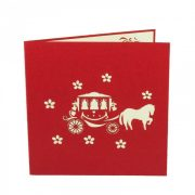 WD019-Romantic Carriage-3D-pop-up-greeting-card-wedding-card-congratulation-Charm Pop-Polland (3)