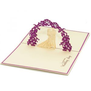 WD025-Wedding-Day-pop-up-card-3D wedding card-Charm Pop-Korea (1)