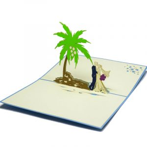WD029-Beach wedding-Pop-Up-Card-charmpop-Germany wedding card (1)