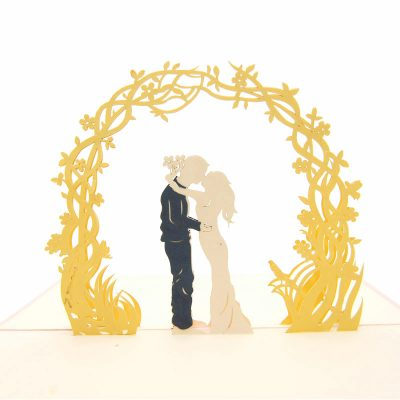 Wedding Day pop up card-pop up card manufacturer- pop up card wholesaler- kirigami card vietnam-CharmPop (1)
