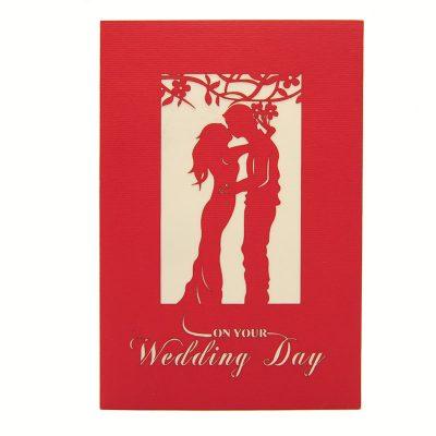 Wedding Day pop up card-pop up card manufacturer- pop up card wholesaler- kirigami card vietnam-CharmPop (10)