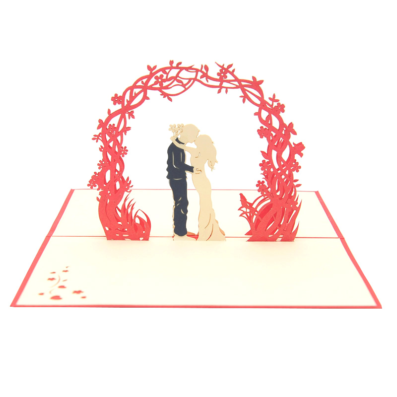 Wedding Day pop up card-pop up card manufacturer- pop up card wholesaler- kirigami card vietnam-CharmPop (11)