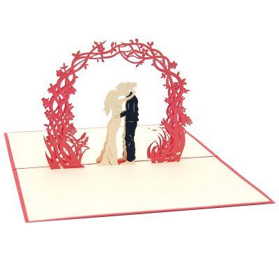 Wedding Day pop up card-pop up card manufacturer- pop up card wholesaler- kirigami card vietnam-CharmPop (12)