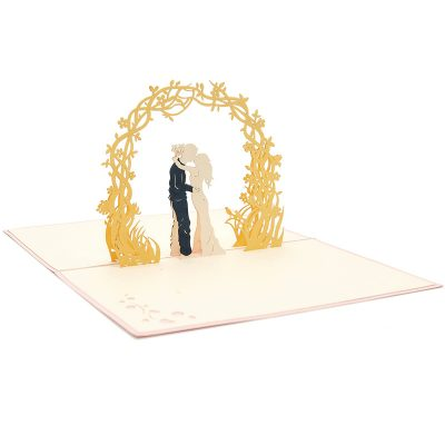 Wedding Day pop up card-pop up card manufacturer- pop up card wholesaler- kirigami card vietnam-CharmPop (3)