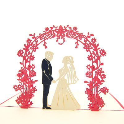 Wedding Day pop up card-pop up card manufacturer- pop up card wholesaler- kirigami card vietnam-CharmPop (5)