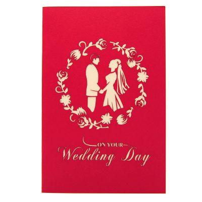 Wedding Day pop up card-pop up card manufacturer- pop up card wholesaler- kirigami card vietnam-CharmPop (6)