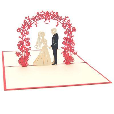 Wedding Day pop up card-pop up card manufacturer- pop up card wholesaler- kirigami card vietnam-CharmPop (7)