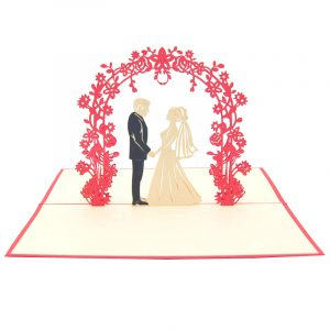 Wedding Day pop up card-pop up card manufacturer- pop up card wholesaler- kirigami card vietnam-CharmPop (8)