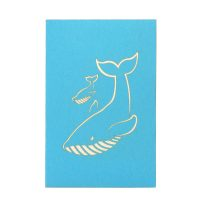 Whales mother ustom pop up cards-3d greeting card supplier-origami card manufacturer-pop up card wholesale (1)