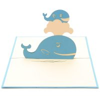 Whales mother ustom pop up cards-3d greeting card supplier-origami card manufacturer-pop up card wholesale (2)