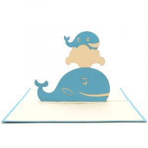 Whales mother ustom pop up cards-3d greeting card supplier-origami card manufacturer-pop up card wholesale (3)