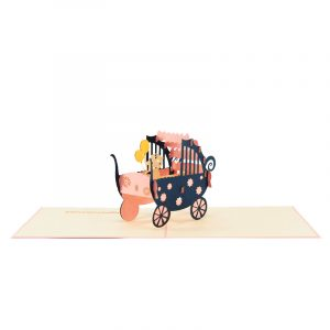 baby in carriage-pop up card wholesale- pop up card birthday- birthday card kirigami- kirigami card manufacturer (6)