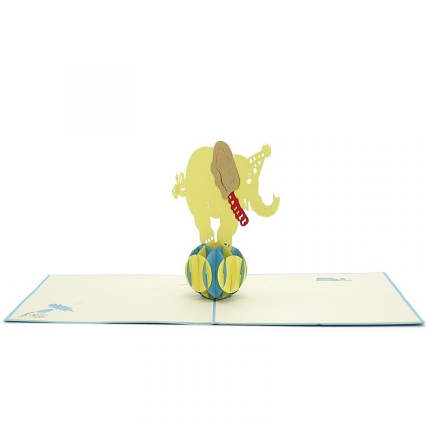 circus pop up card- custom pop up card- custom design 3d card (2)