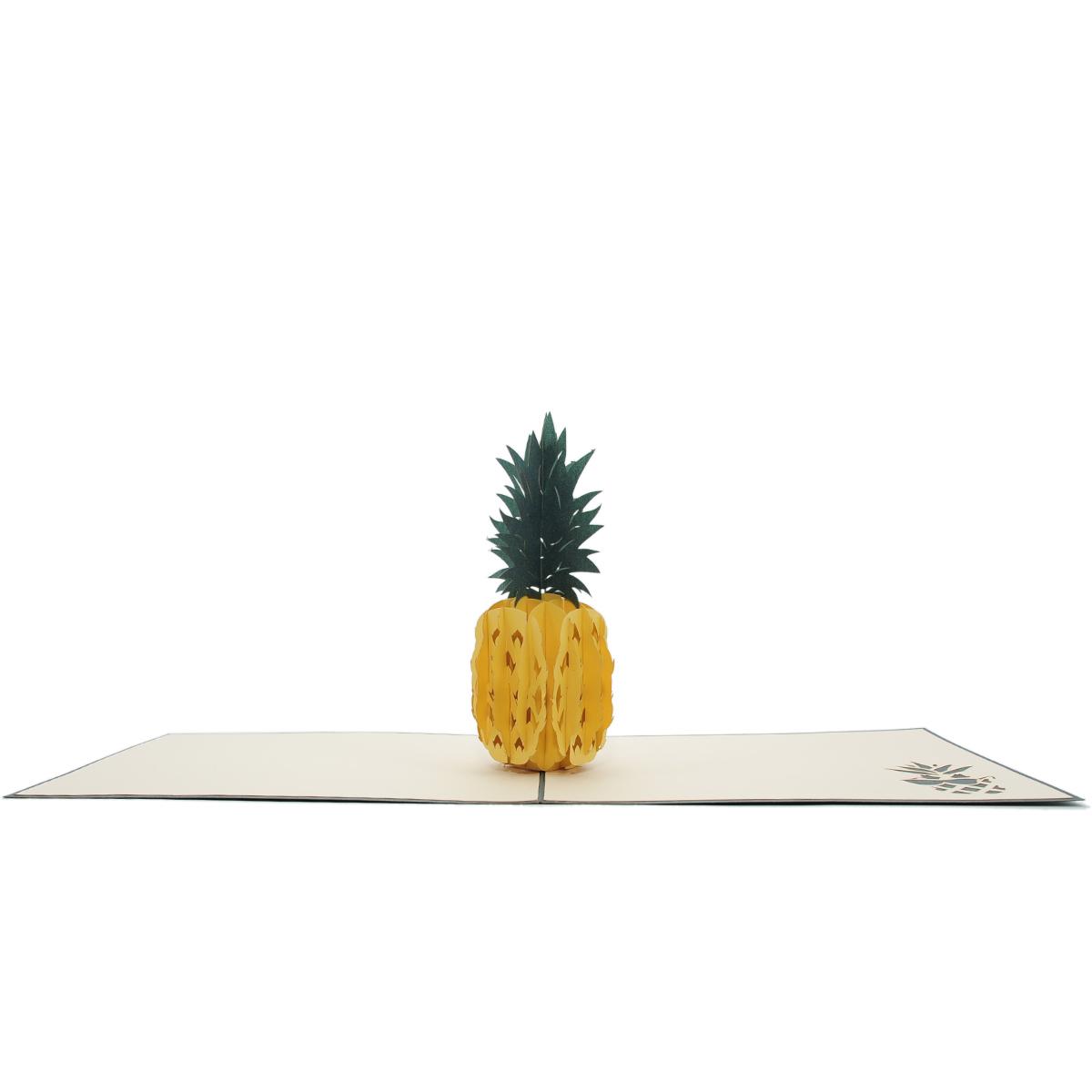 Pineapple pop up card 3d card vietnam custom cards wholsale charm pop pineapple pop up card kristyandbryce Images