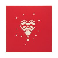 Air balloon love pop up card-3d greeting card supplier-origami card manufacturer-lpop up card wholesale (3)
