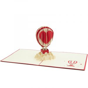 Air balloon love pop up card-3d greeting card supplier-origami card manufacturer-lpop up card wholesale (5)