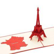 BD002 Eiffel Tower 3D Card-vietnam custom pop up card manufacturer (1)