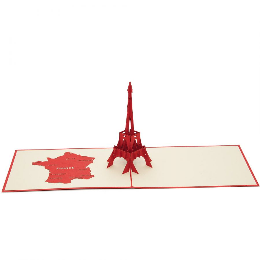 BD002 Eiffel Tower 3D Card-vietnam custom pop up card manufacturer (3)
